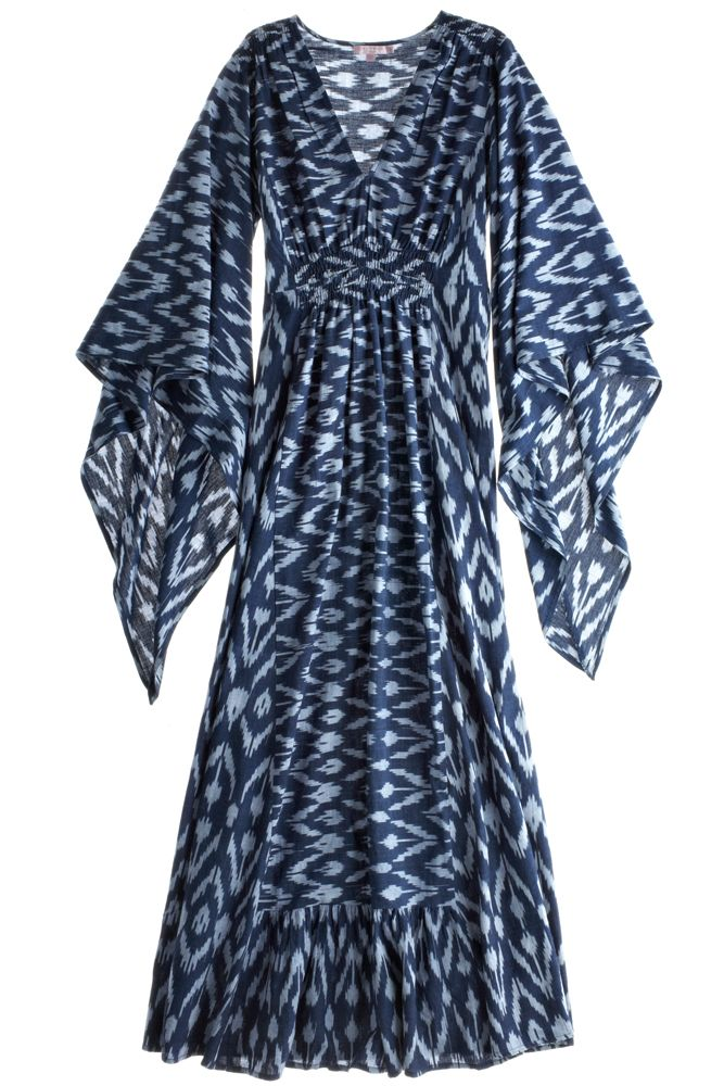 Ikat caftan dress