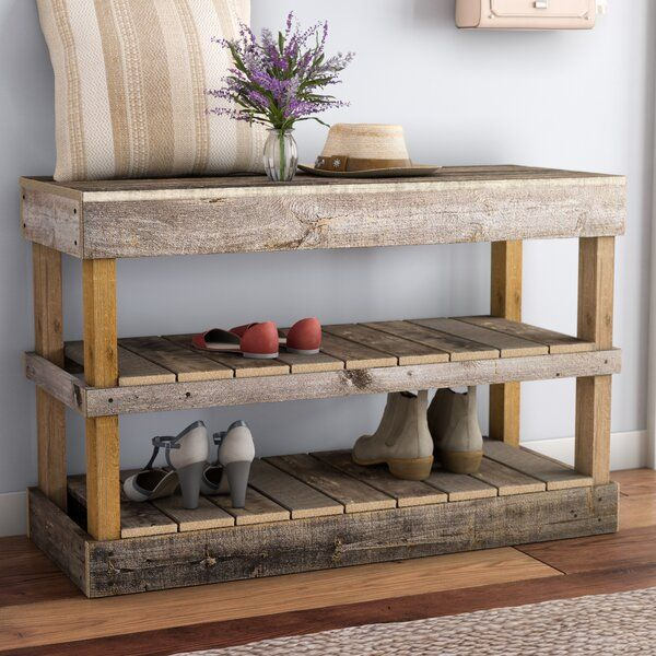 Barnwood 8 Pair Shoe Storage Bench In 2020 Bench With Shoe Storage Shoe Storage Bench Entryway Entryway Shoe Storage