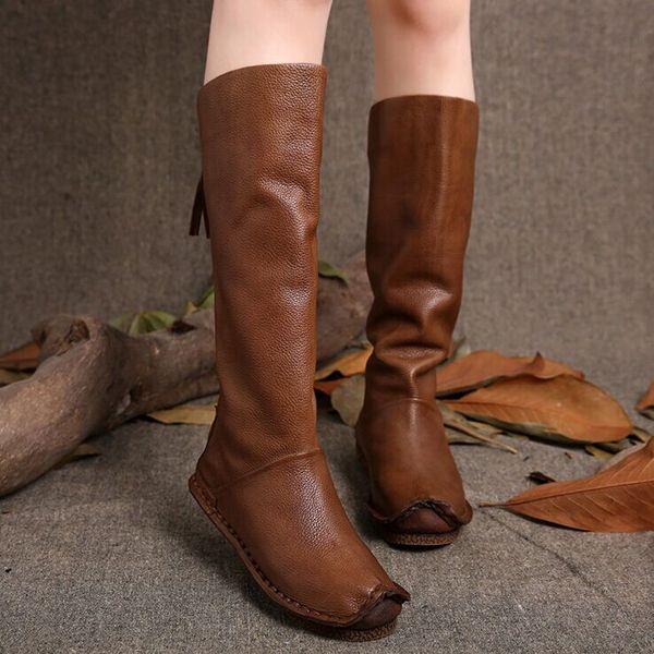 Дни Nige оригинальный бренд обувь ручной работы марочные кожаные сапоги вниз…