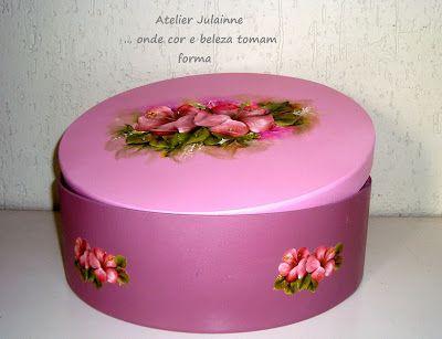 Atelier de Arte Julainne: Arte francesa - flores sobre caixa de madeira