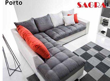 Couch Rundecke Grau