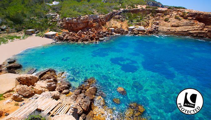 Ibiza, Spain: 3-7 Night Stay With Flights - Up to 43% Off Clear waters, white sand and exciting nightlife? Dive in with a 3-7 night Ibiza stay      Rest your heads at the Central Park Apartments, Florencio Accomodations or Hostal Tarba      Hotels and apa