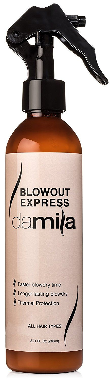 Blowout Express - NEW LOWER PRICE! Fights Frizz, Smoothes Curls, Protects Hair From Heat - Reduces Drying Time by Up to 50% - Satisfaction Guaranteed - Spray Bottle 8.11 Oz (240 ml) by Damila ** Click image for more details.