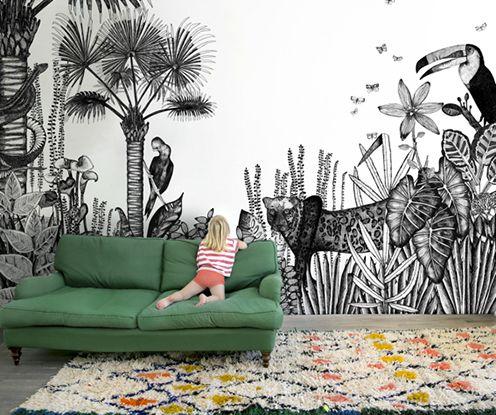 Fine Little Day - by Bien Fait salon living papier peint wallpaper -★-