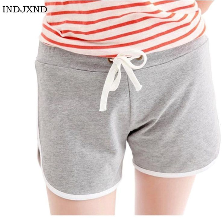 Hot Koop Zomer Vrouwen Shorts Mode Snoep Kleur Korte Strand katoen Streep Jersey Plus Size Vrouwelijke Vrouwen Zwart Vouw Kleren D019