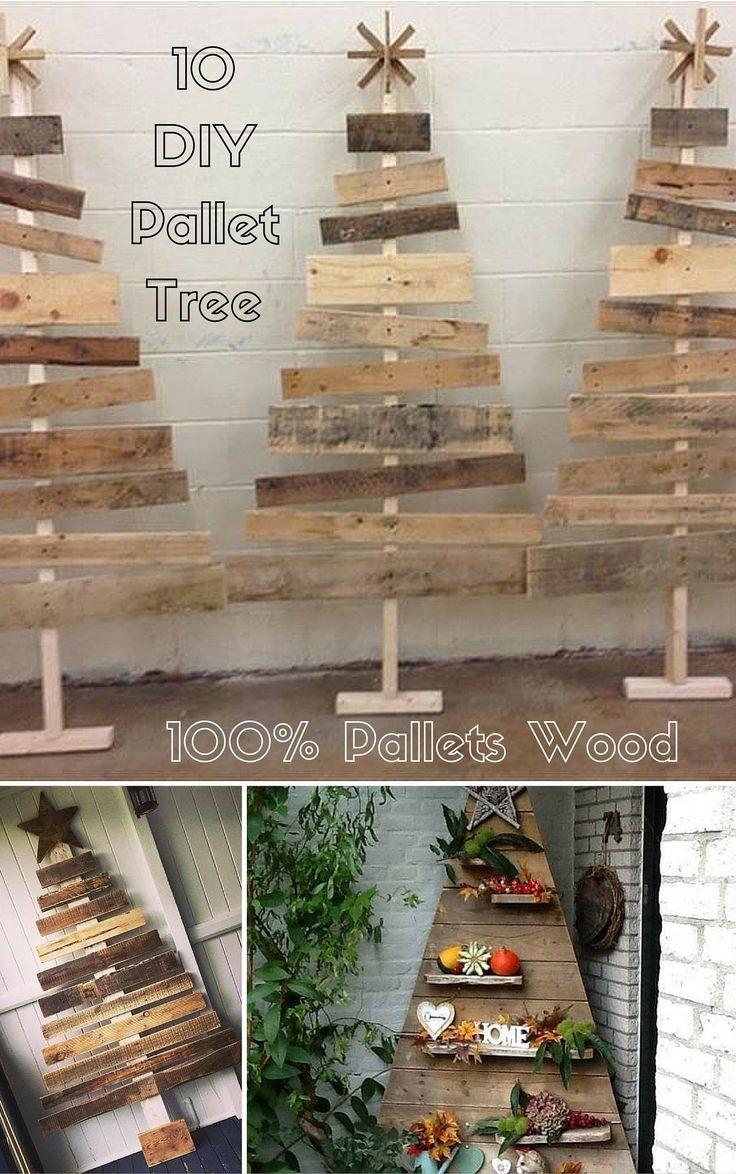 10 DIY Pallet Trees - 100% Pallets #Wood | #Pallet Furniture