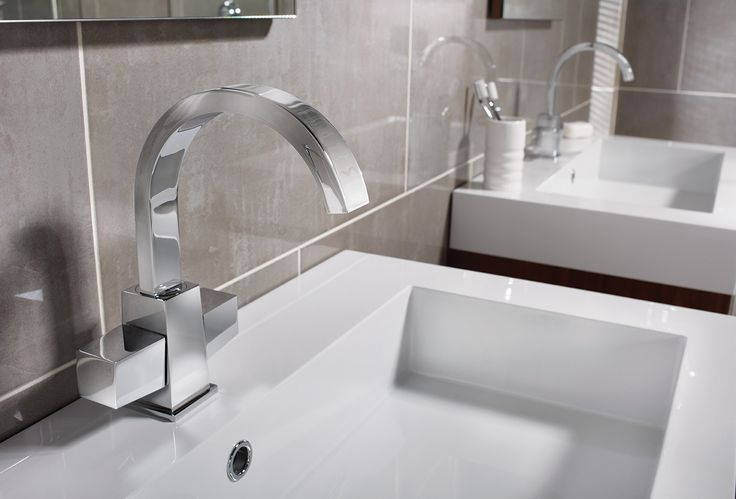 Paleto basin mixer bathroom taps with mineral cast basins #modular #bathroomfurniture #taps #myutopia