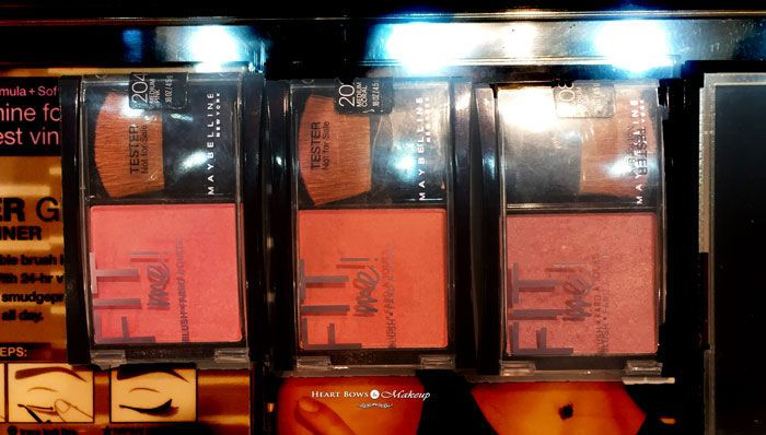 Maybelline Fit Me Blush Medium Pink, Medium Coral, Medium Nude Review, Swatches, Price & Buy Online India