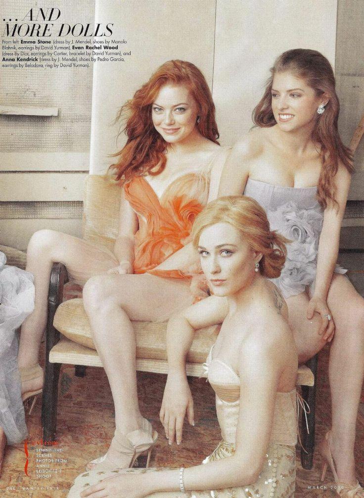 Emma Stone, Evan Rachel Wood and Anna Kendrick in Vanity Fair Magazine, March 2010.