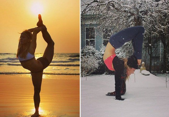 Aos 37 anos, a professora norte-americana de YogaKino MacGregor é uma das queridinhas das redes sociais. Se não bastasse oferecer aulas de yoga em diversas partes do mundo, ela também mostra toda a beleza que há por trás da prática em sua conta no Instagram. Aliando movimentos perfeitos com belas paisagens, ela já conquistou mais de 600 mil seguidores na rede social. É impressionante ver a elasticidade de seu corpo nas fotografias em que posta, mostrando também alguns dos incríveis cenários…