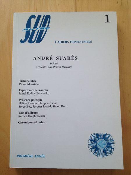 #revue littéraire : Autre Sud N° 1, 1998 - André Suares, inédits.