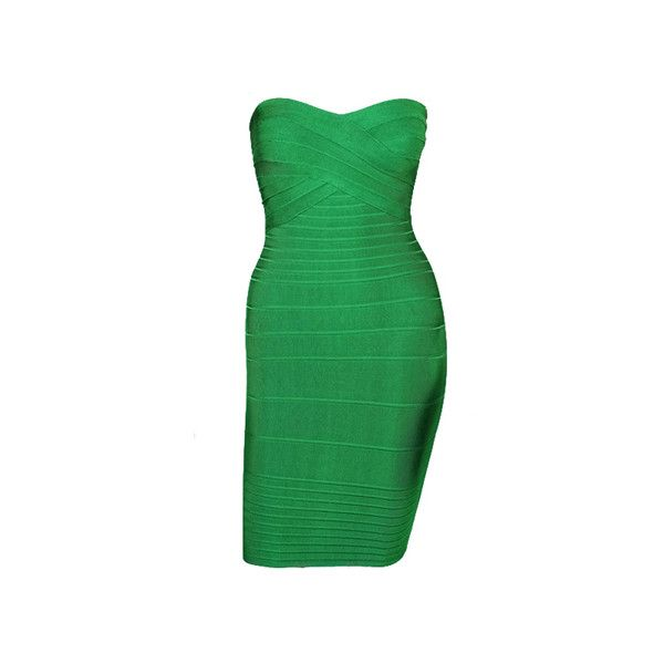 Sexy Style Low Cut Solid Color Sleeveless Polyester Women s Bandage... ($50) ❤ liked on Polyvore featuring dresses, green, bandage dress, sexy low cut dresses, sexy green dress, sleeveless dress and no sleeve dress