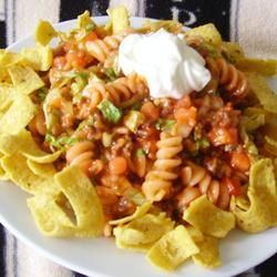"Taco Pasta Salad | ""Great on a hot summer day."" -- i"