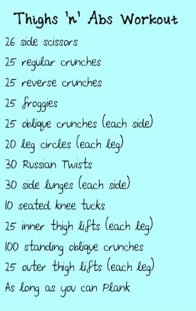 The Thighs n Abs Workout....this looks super hard but I bet the results are awesome