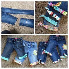 Todos tienen los pantalones vaqueros que ya no utilizan salvado, disfrutar de reciclar sus viejos pantalones vaqueros convirtiéndolos en shorts y pantalone