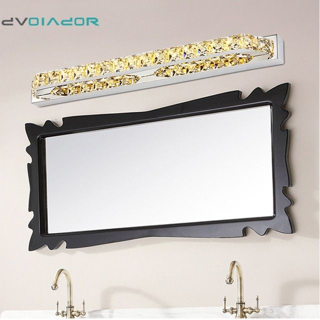 Dvolador Vanity Led Crystal Stainless Steel Led For Bathroom Makeup Wall Lamp 10w 14w 2835 Smd Cabinet Wall Lamp Bathroom Mirror Lights Mirror With Led Lights