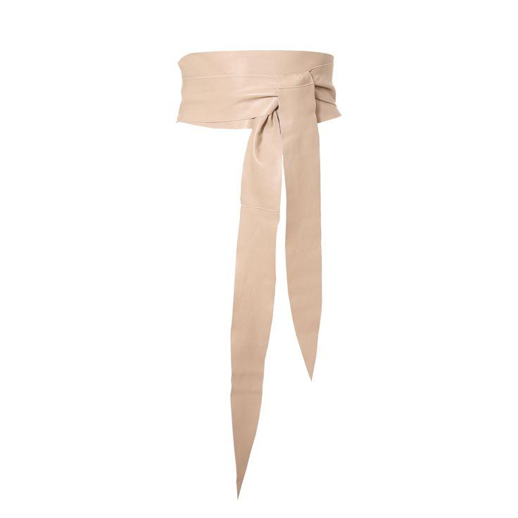 Ledergürtel beige vielseitig einsetzbarer Bindegürtel aus handschuhweichem Nappaleder aus Italien
