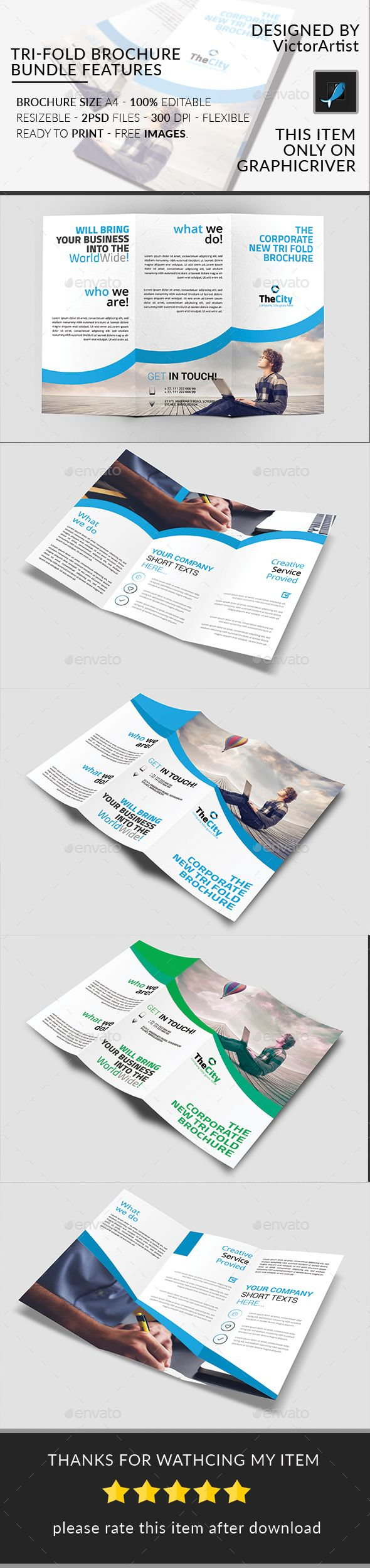 Tri-Fold Brochure Bundle - Brochures Print Templates Download here : https://graphicriver.net/item/trifold-brochure-bundle/19474280?s_rank=26&ref=Al-fatih