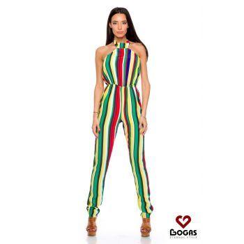 Salopeta lunga, pe corp si multicolora