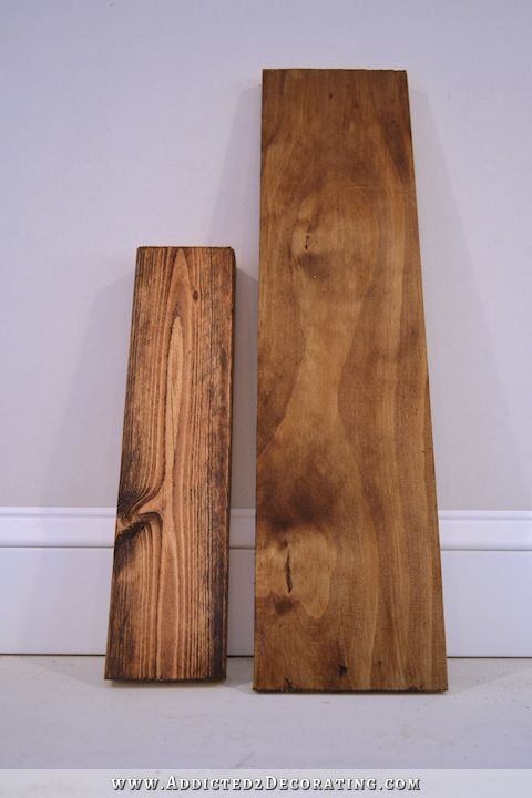How To Stain Pine A Warm Medium Brown While Minimizing Ugly Grain Crafts Diy On Wood