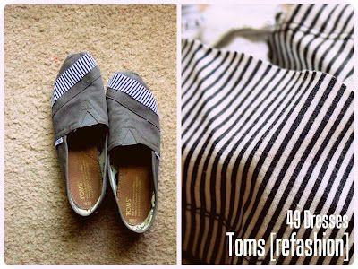 Toms DIY.   I wonder if this will work for my keds, I hate to part with them!