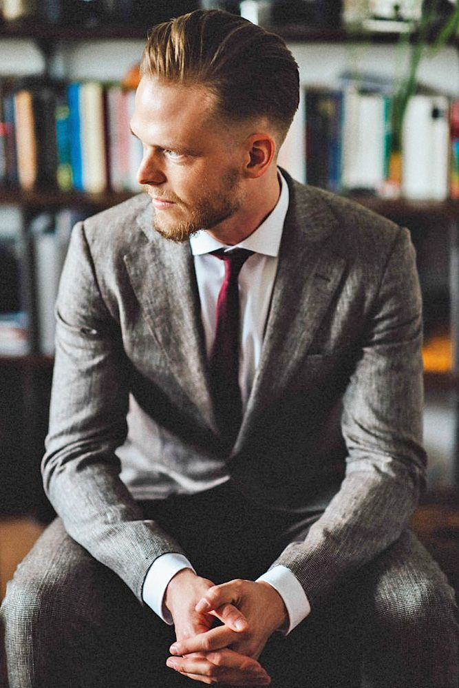 a85bff8c8 30 The Most Popular Groom Suits | IDK what I'm doing - Wedding Clothes |  Grey suit wedding, Suits, Groomsmen suits