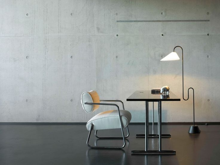 Roattino Floor Lamp, Bonaparte Chair and Lou Perou Table by Eileen Gray