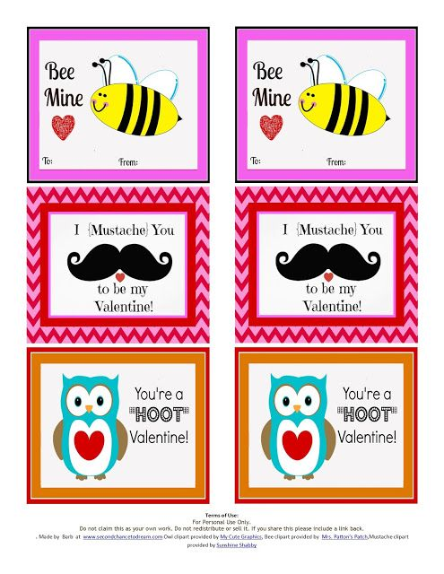 Miss Information: Valentine Printables from Barb at Second Chance to Dream