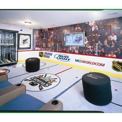 Man Cave, Teen Cave, Fans in the stands mural