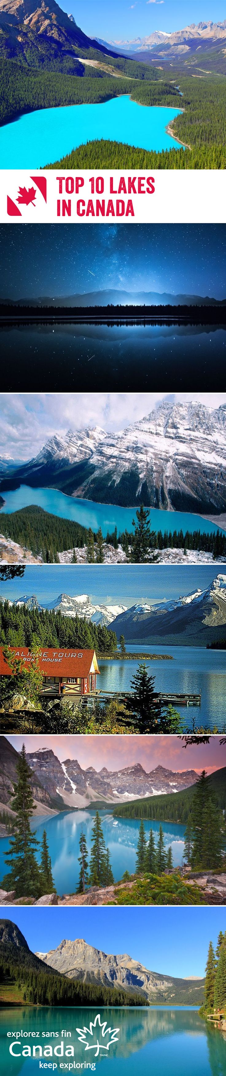 Canada is filled with picture-perfect lakes - a true testimont of the natural beauty that graces this stunning country. We've picked our top 10 lakes in Canada that will take your breath away, from Lake Louise, to Spotted Lake