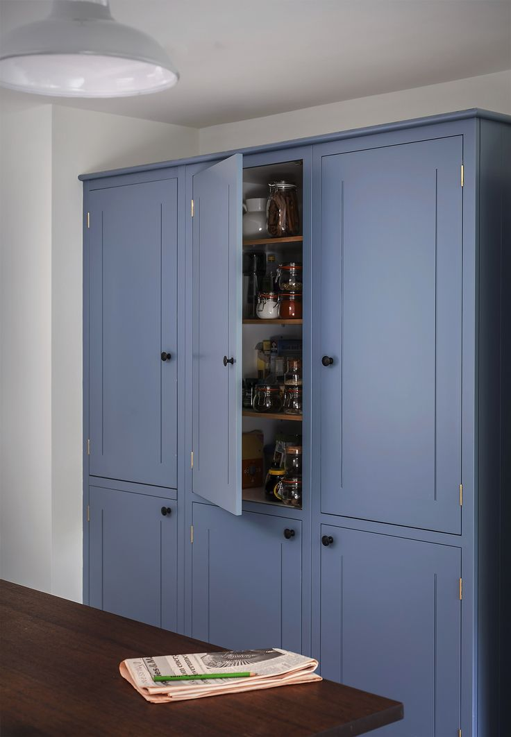 British Standard Cupboards painted in Dulux Niagra Blue
