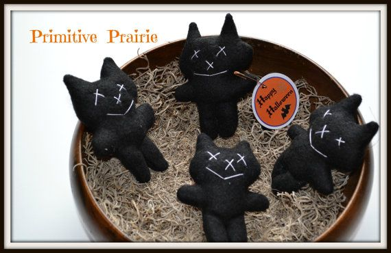 21 best My Etsy images on Pinterest Primitives, Annie and Black cats - halloween decorations black cat