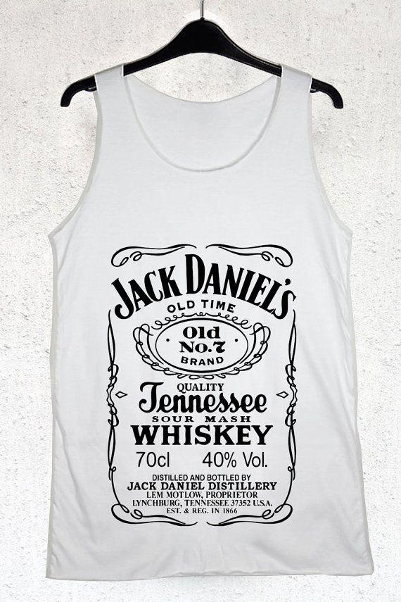 Jack Daniels Tank Top Women and Men Black White Azalea Cherry Red Grey Color