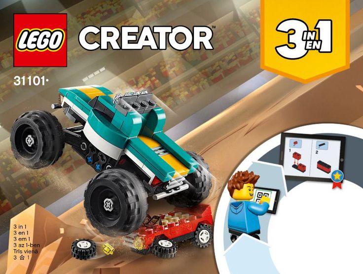 Building Instructions Instructions De Montage Lego 31101 Le Monster Truck Monster Trucks Lego Lego Creator Sets