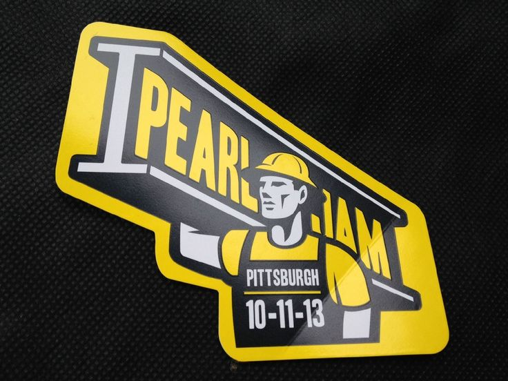 Pearl jam 10 11 2013 pittsburgh pa sticker