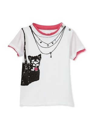 78% OFF Mini Shatsu Girl's Puppy Royalty Snap -T (White)