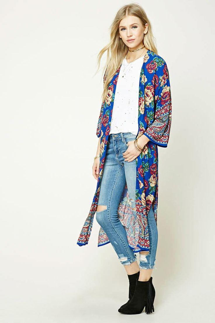 J2017  Floral Longline Kimono