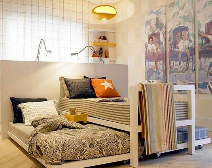 Como decorar una habitación compartida  larga y estrecha