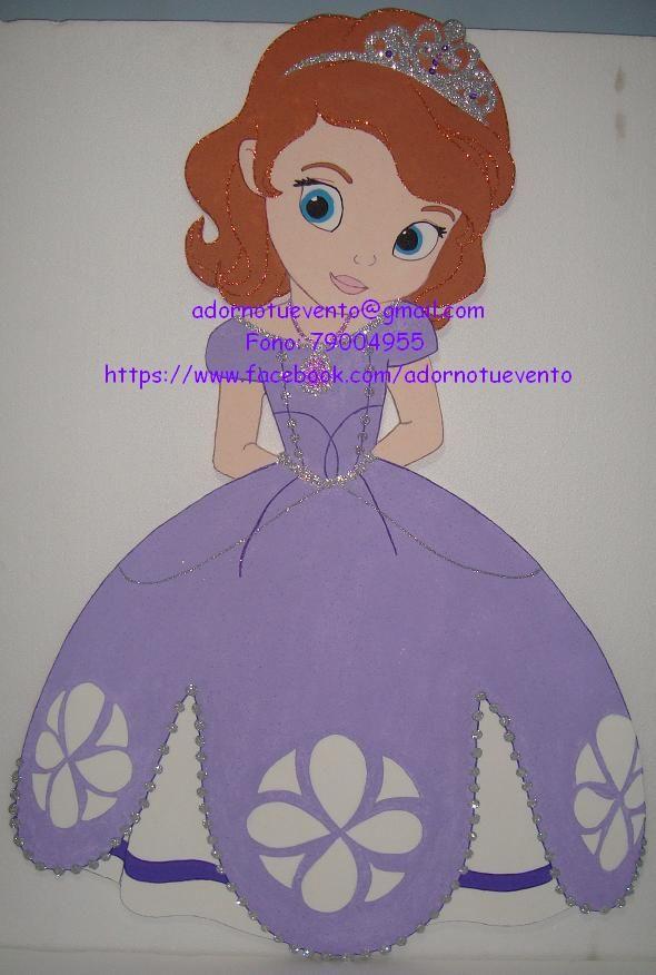 Princesa Sofia de un metro, pintada a mano.