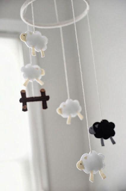 Le mobile pour bébé moutons