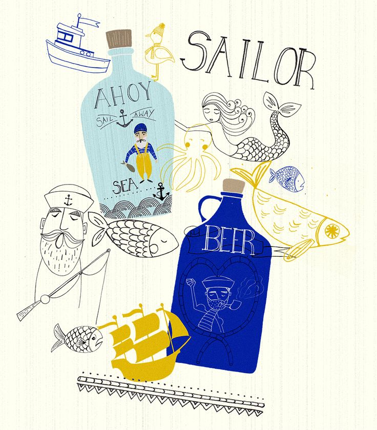 Love the nautical theme! Kind of reminds me of Long John Silver's, actually. Mmm.