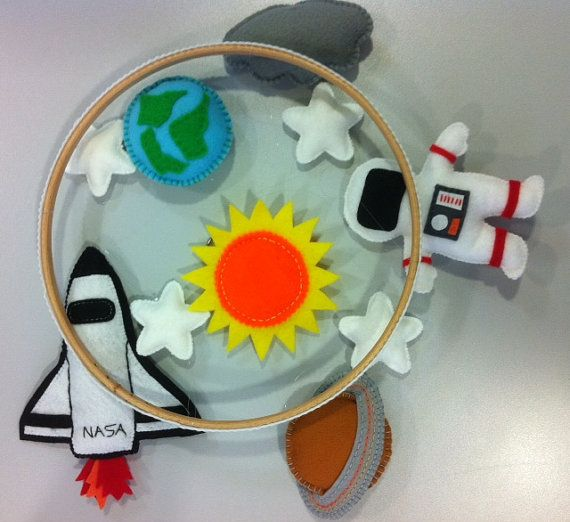 Made to Order  Little Astronaut Baby Mobile by PrincessAllipops, £45.00