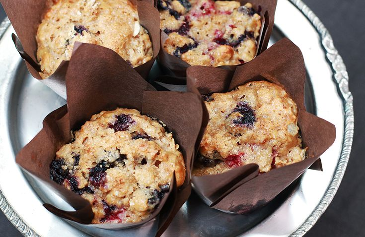 Peanut Butter And Grape Jam Muffin