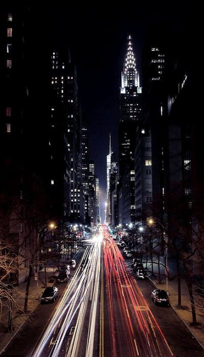 New York CityStreet Light, Favorite Places, New York Cities, Big Apple, Night Lights, Cities Street, Cities Life, Chrysler Buildings, Cities Lights