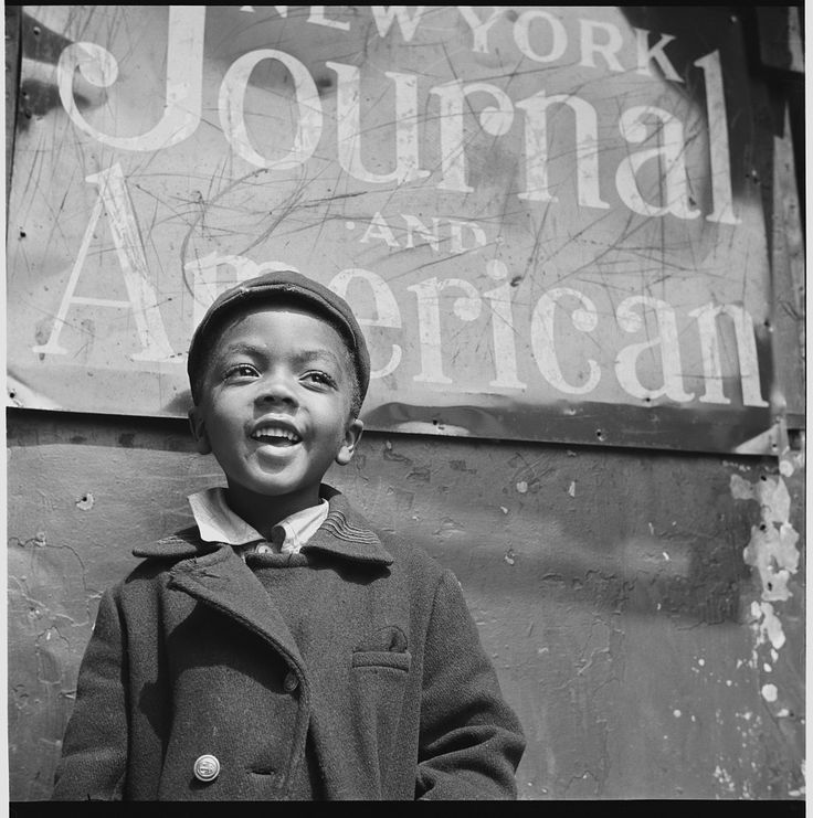 """New York, New York. Harlem Newsboy."" by Gordon Parks, 1943"