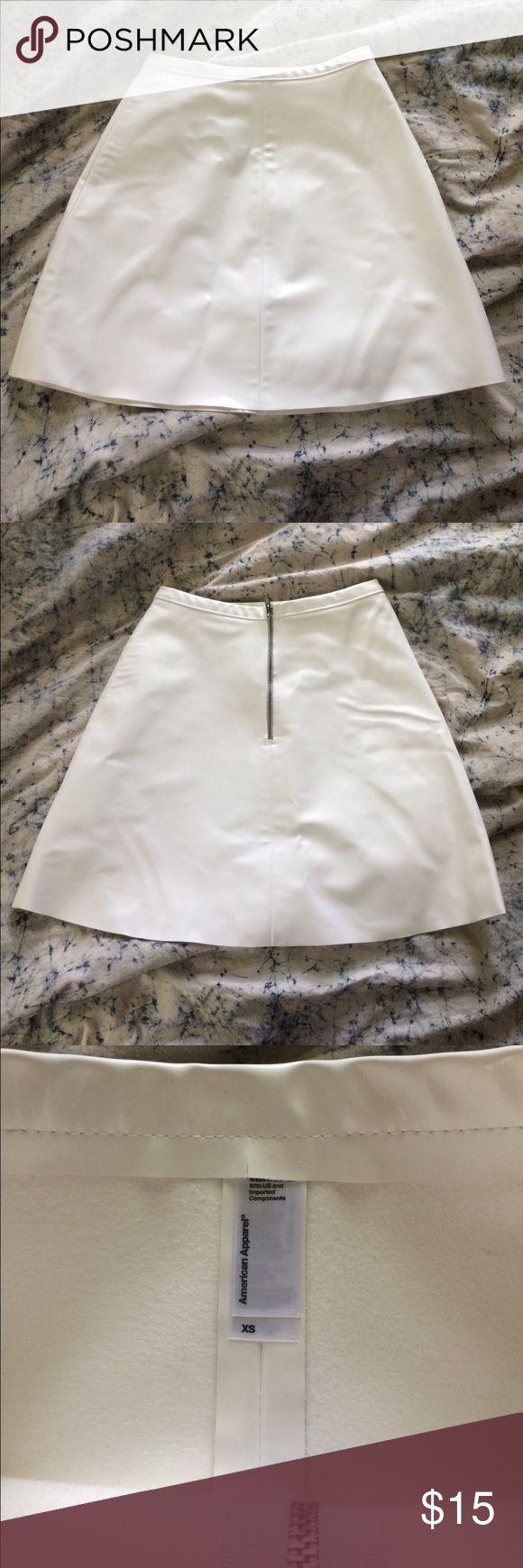American apparel vintage vinyl skirt Never worn! American Apparel Skirts Mini