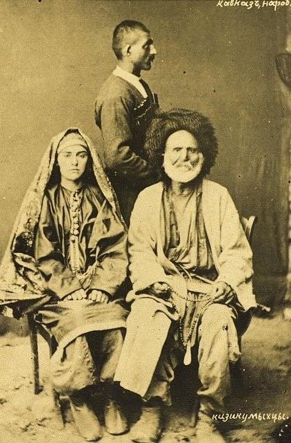 Группа лакцев в национальных костюмах 1890  Дагестан, Россия/Laks group in national costumes 1890  Dagestan, Russia