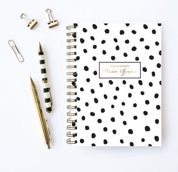 2016-2017 Personalized Planner  Choose Start Month by KarmaPaperCo