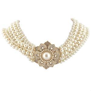 Carolee Lux Multi Row Torsade Pearl Necklace