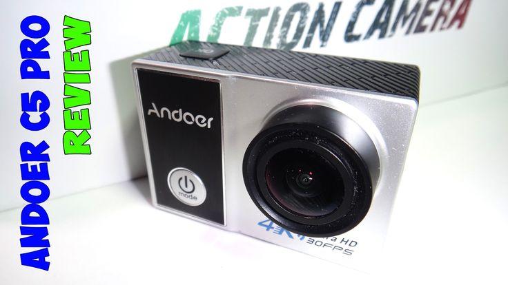 Andoer C5 pro 4K action cam обзор тест видео камеры